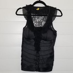 Lucy Paris Hook Front Sleeveless Blouse L